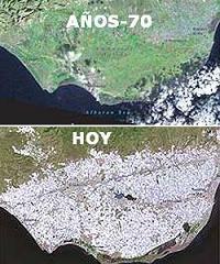 Amortiguación del cambio climático por los invernaderos almerienses.