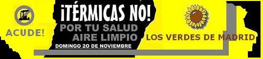 MANIFESTACION ¡TERMICAS NO !