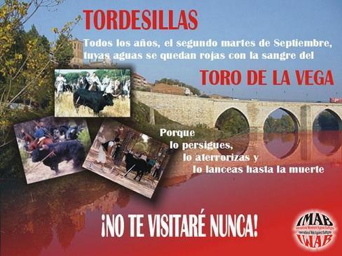CAMPAÑA EN CONTRA EL TORO DE LA VEGA, TORDESILLAS